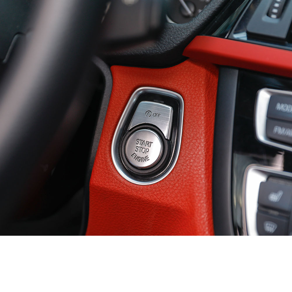 Aluminium Alloy ENGINE START STOP Switch Button Trim Covers For bmw F30 F34 F10 F20 x1
