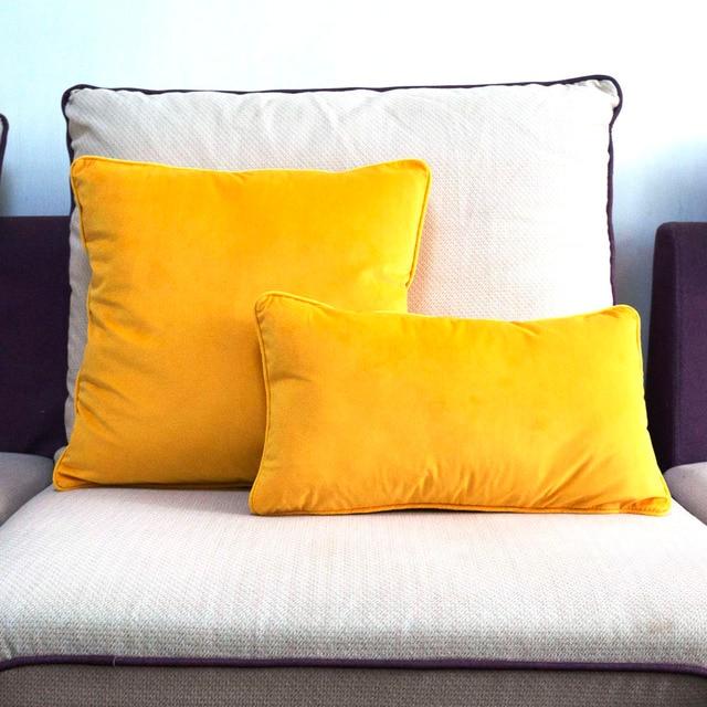 Arancione Giallo Piping Design Velluto Copertura del Cuscino Copertura del Cusci
