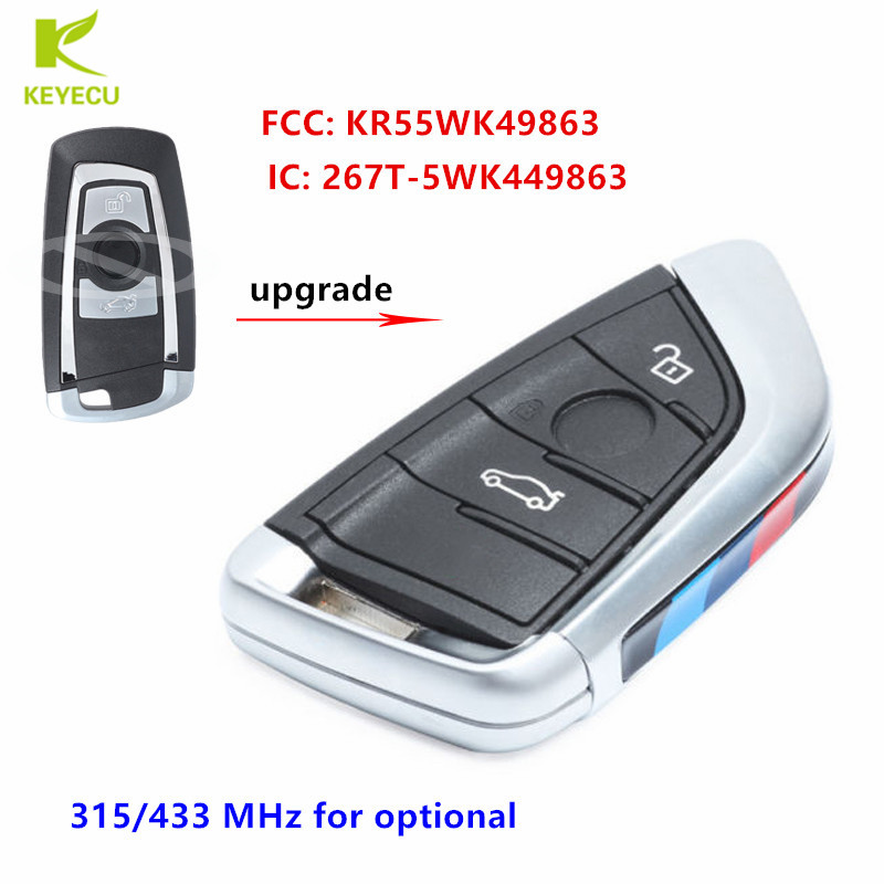 Bmw Key Fob Replacement >> Us 68 31 10 Off Keyecu Oem Replacement Modified Smart Remote Key Fob 315 434mhz 3 Button For Bmw F Series Cas4 Fem Fcc Kr55wk49863 In Car Key From