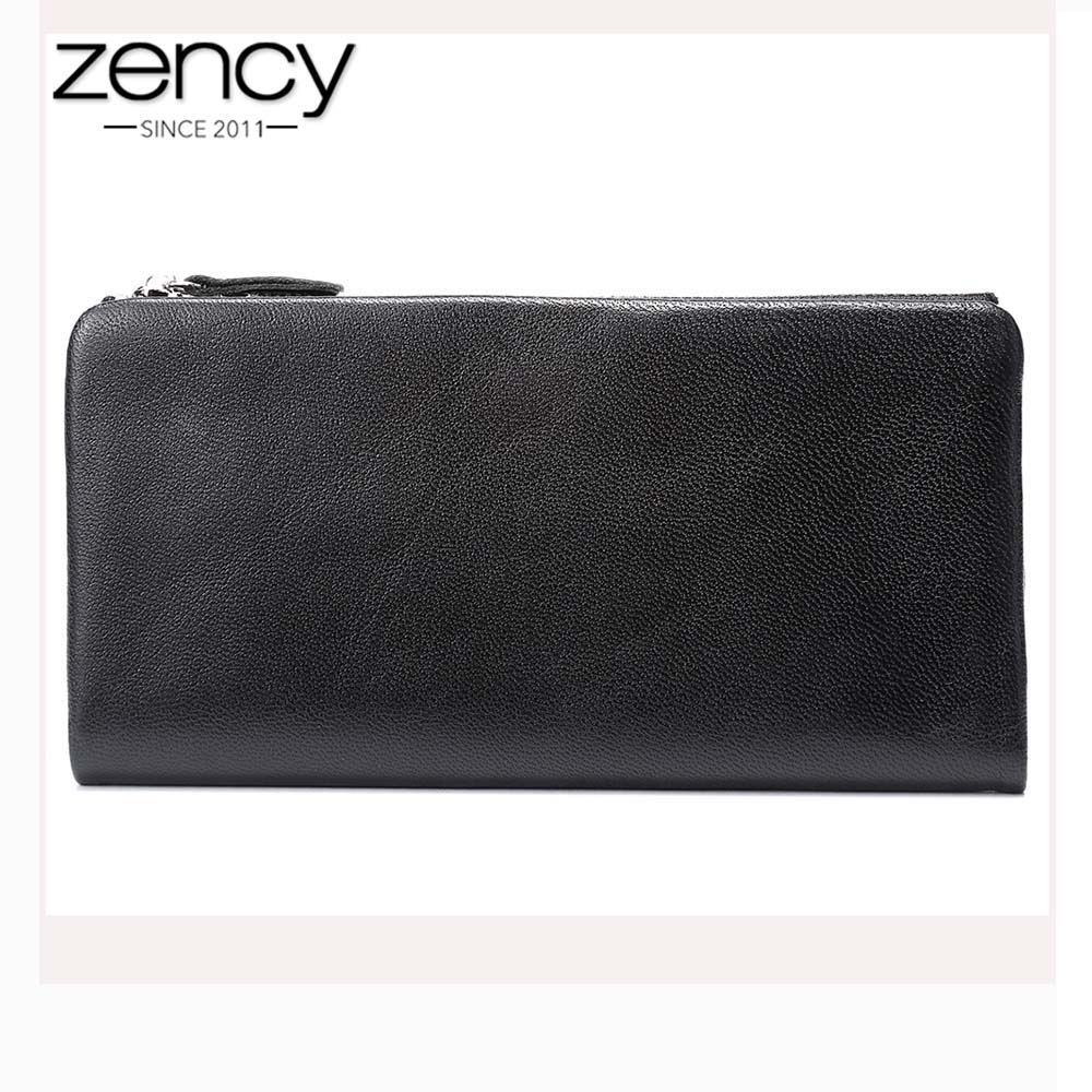 Zency Fashion Female Wallet 100% Natural Leather Genuine Cow Skin Elegant Women Long Purse Hot Sale Multi Card Holders jialante python skin women wallet female long style real snake leather manual super thin simple multi card female clutch bag