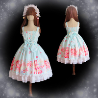 Princess Lolita Dress Lace Cosplay Costume Halloween Dress Anime Free Shipping Custom Made Short Sleeve Lovely