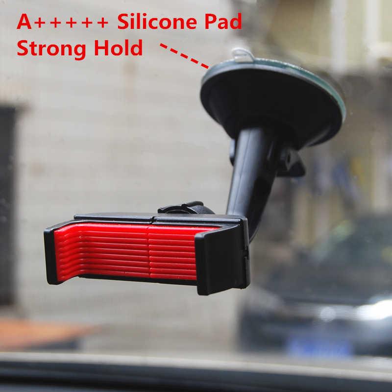 HOTR uchwyt na telefon samochodowy uchwyt na telefon samochodowy uchwyt elastyczny rury uchwyt samochodowy 360 obrotowy uchwyt do montażu na stojaku GPS pokaż uchwyt