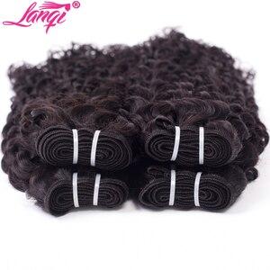 Image 3 - lanqi Peruvian hair bundles with closure nonremy human hair weave bundles with closure Brazilian water wave bundles with closure