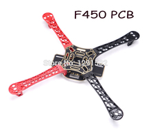Hot F450 4-Axis MultiCopter Quadcopter Frame 450F Multi-rotor Airframe Kit with red and black arm(China)