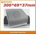 Frete grátis por DHL 5 pçs/lote 300*69*36mm dissipador de calor de Alumínio feitos Sob Encomenda-alta potência dente densa 300*69*37mm radiador de alumínio