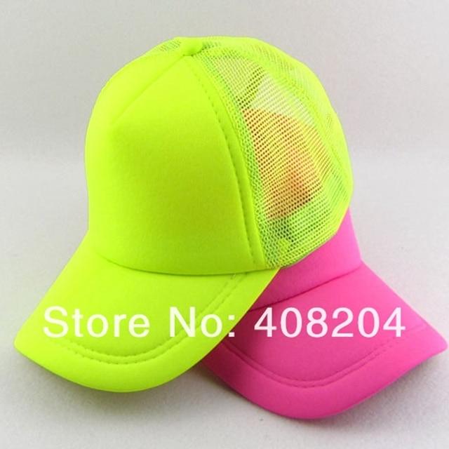 Gorra de béisbol de malla fluorescente de neón al por mayor 6 colores 5  unids  3c6eb208935