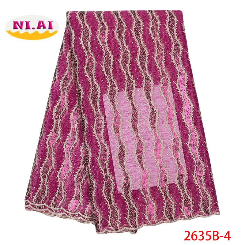 African Sequins Lace Fabric 2019 Embroidered Nigerian Laces Fabric High Quality French Tulle Lace Fabric For