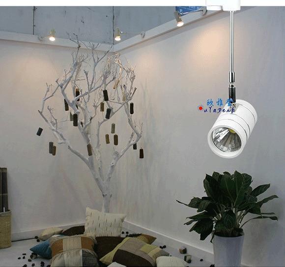 Modern Led Track Spotlights Clothing Stores Modeling: Plus Pole Surface Mounted Spotlights Cob Led Track Light