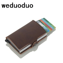 Weduoduo 2019 New Credit Card Holders Business Men Fashion RFID Cases Automatical Aluminium Bank Wallets