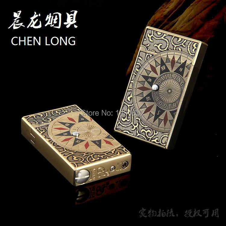 Novelty Gas electronic sense Metal Lighter Funny Compass Cigarette Lighter Valentine s Day Gift for Man