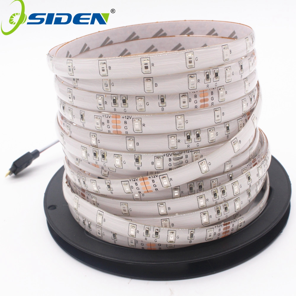 OSIDEN Led  Strips Light RGB Warm White Led Tape SMD2835 Led Strips DC12V No Waterproof /Waterproof 60 Pcs/m Led Tape 5M/roll