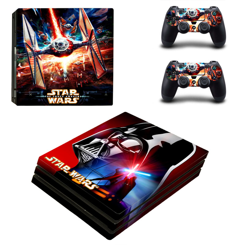 Star Wars PS4 Pro Sticker Vinyl Design for Sony Playstation 4 Pro Console and Controller Skins