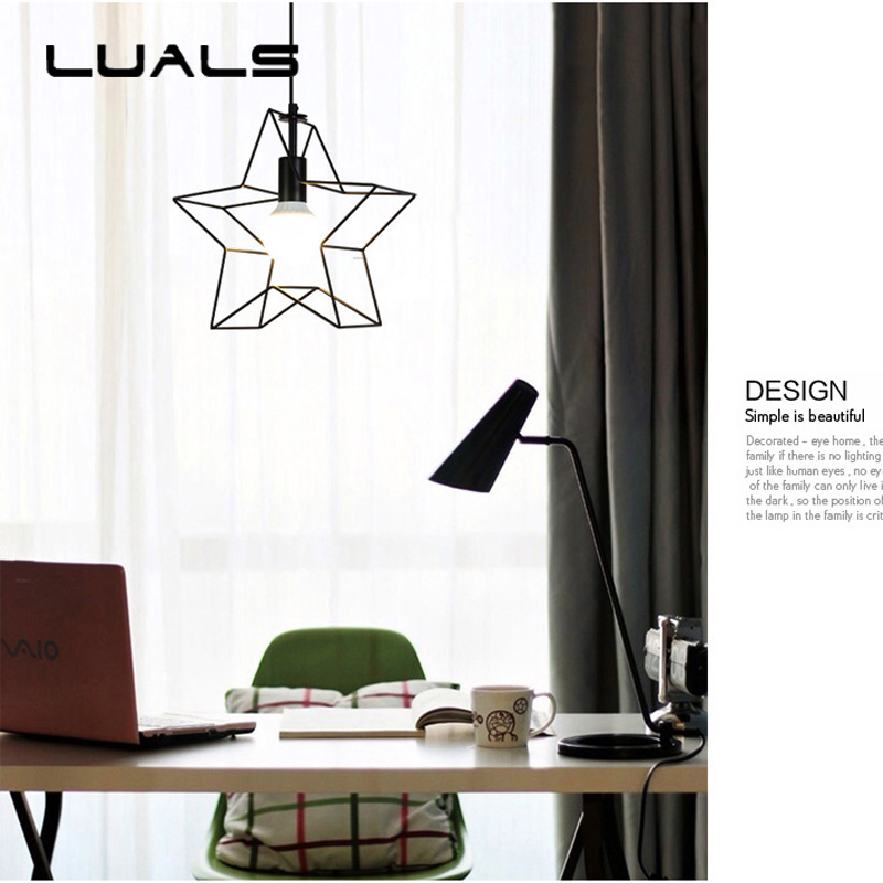 Personality Modern Pendant Lamp Creative Five-pointed Star Pendant Light For Cafe Bars Led Pendant Lights Decoration Lighting modern american personality lamp spider extendable light pendant scalable lamp home office bar decoration light lamp