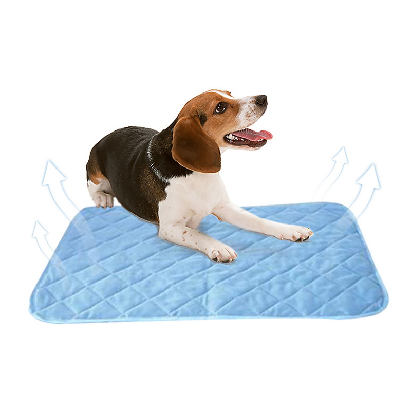 urijk solid cooling viscose fiber pet cooling pad mat pet summer blanket ice pet dog bed sofa. Black Bedroom Furniture Sets. Home Design Ideas