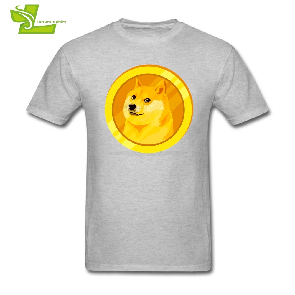 34268f8cfc Revised Dogecoin Logo 1 Male T Shirt Cool Classic Loose T-Shirt Men Short  Sleeve