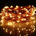 Продажа завода Рождество 5 М 50 Светодиодов Медный Провод Светодиодной Строки 3 АА Батареи Фея Огни Строки Лампы Для Отдыха Свадебная Вечеринка