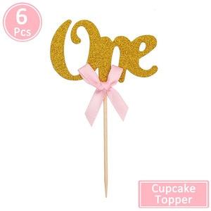 Image 5 - Erste Geburtstag Ein Cupcake Topper 1st Jahre Junge Mädchen DIY Party Dekorationen 1 Jahr Alten Baby Geburtstag Decor Kinder