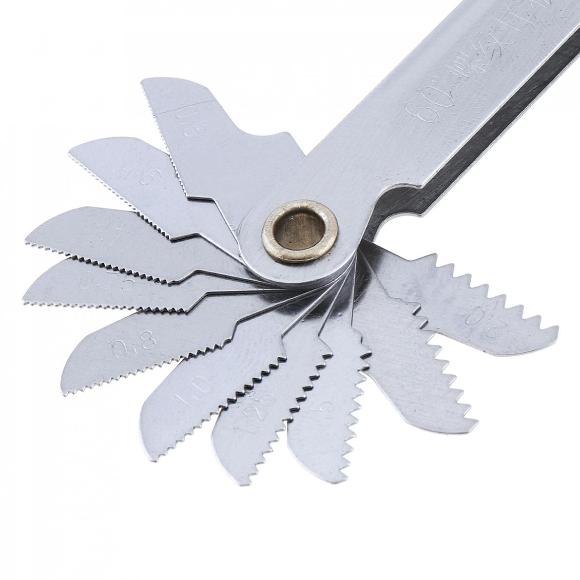 Imperial Stainless Steel Thread Gauge 20pcs//set 55 Degree Screw Pitch Gauge