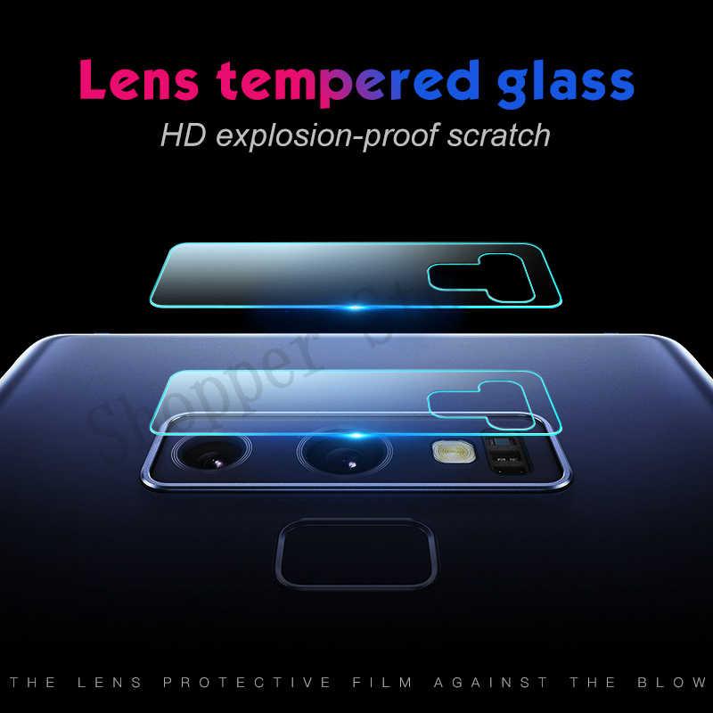 عدسة الزجاج المقسى لسامسونج غالاكسي Note9 8 S8 s9 plus لينة كاميرا عدسة واقي للشاشة لسامسونج غالاكسي A6S A8 2018 فيلم