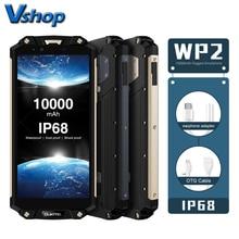 OUKITEL WP2 4G IP68 Su Geçirmez Cep Telefonları Android 8.0 4 GB + 64 GB Octa Çekirdek Smartphone 10000 mAh pil 16MP NFC 6.0