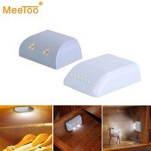 Pil LED gece lambası PIR kızılötesi hareket sensörlü ışık mutfak iç menteşe çekmece dolap dolap dolap dolap altı ışığı