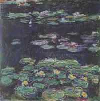 Free Shipping No Frame Monet Good Looking Lotus Flower Frameless Pictures Wall Painting On Canvas Unique
