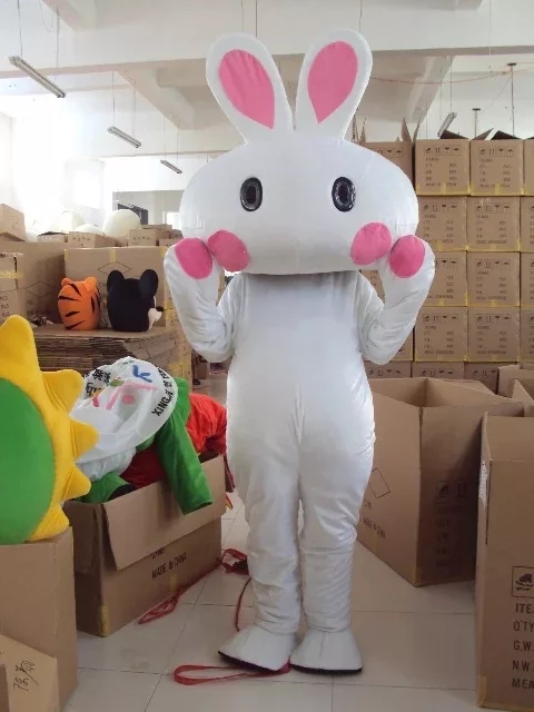 Moon Festival jadeRabbit Mascot Bugs Rabbit Hare Easter Adult Mascot cosplay costumes high quality mascotte costum Fancy Dress