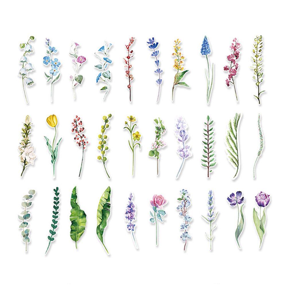30 unids/caja nueva flor plantas papel marcapáginas papelería marcapáginas libro titular mensaje tarjeta escuela Oficina suministros