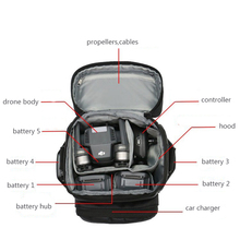 Multipocket Black Bag for Mavic Pro