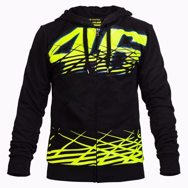 Black Valentino Rossi VR46 Moto GP Monza Hoodie Moto GP Sport Adult Sweatshirts