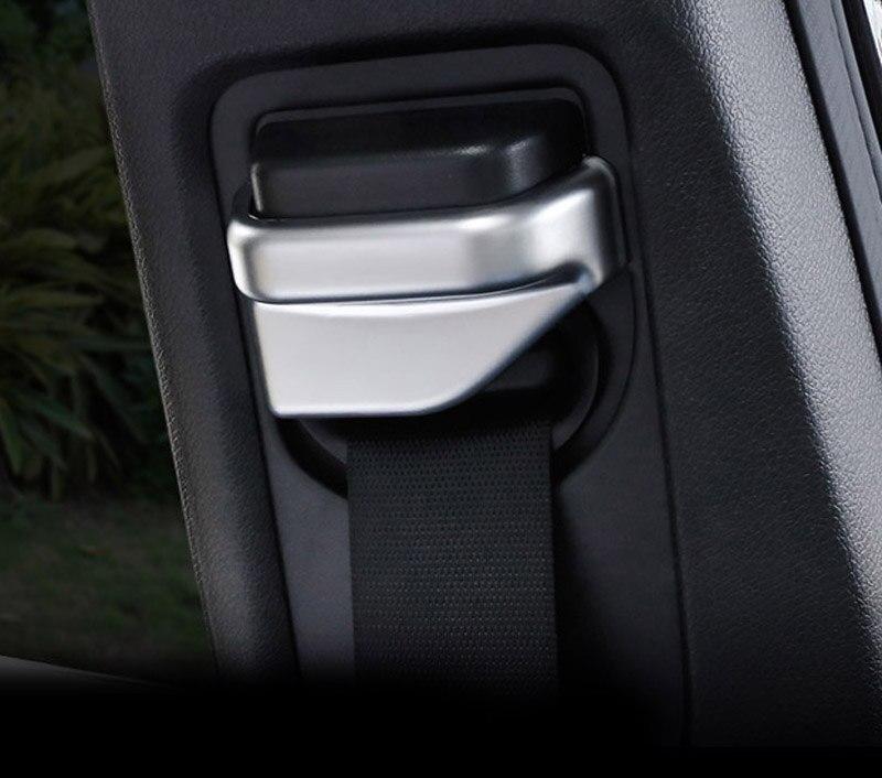 2 pièces abs pour Benz classe A/B/C/E/S cla gls cls gla ceinture de sécurité cadre décoratif autocollant