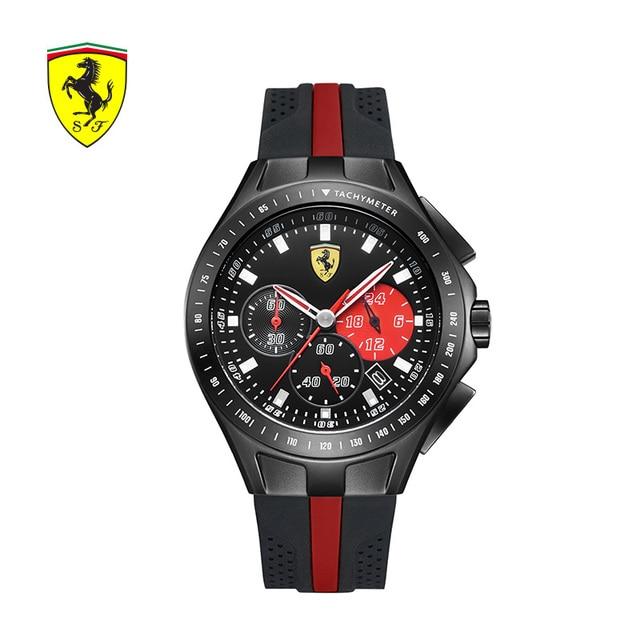 83d10d7f3029 SCUDERIA FERRARI marcas 2018 nuevo reloj deportivo de los hombres de moda  impermeable cronógrafo hombre reloj