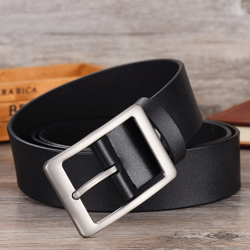 Image 4 - NO.ONEPAUL Men belt High Quality cow genuine leather luxury strap male belts for men new fashion classice vintage pin buckle-in Men's Belts from Apparel Accessories