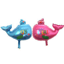 balloon baby shower whale party foil baby boy girl balloons Birthday Party Decoration baloes de festa(China)