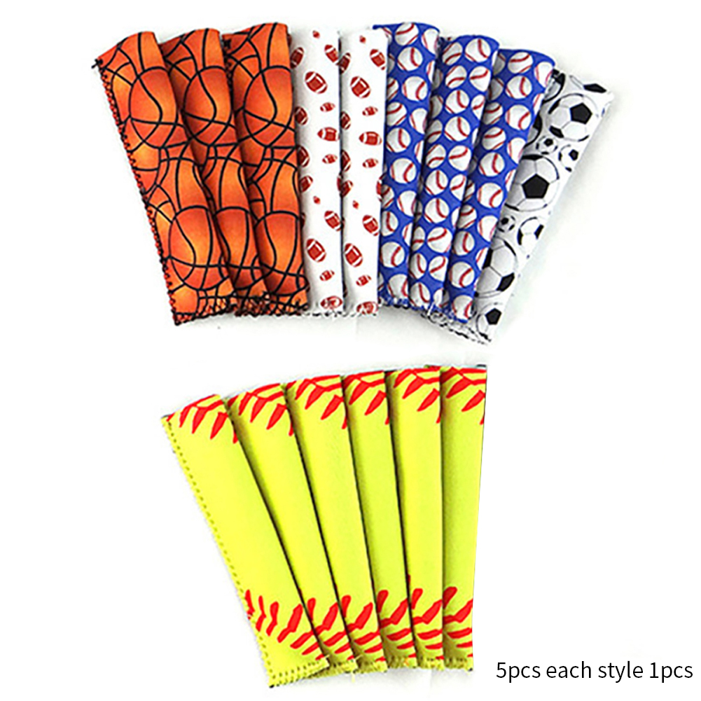 5pcs Popsicle Sleeve Holder Container Cover Protector Ice Pop Forzen Cover Kids