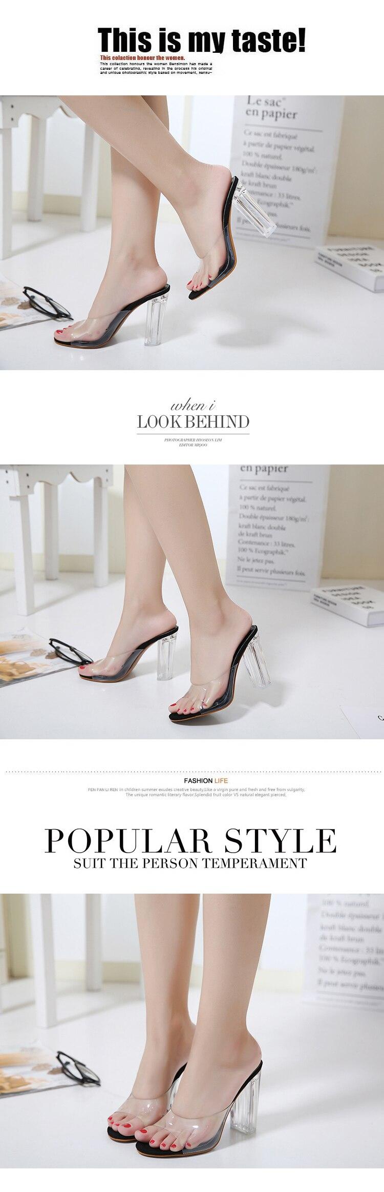 HTB1qfvVowDD8KJjy0Fdq6AjvXXae Aneikeh New Women Sandals PVC Crystal Heel Transparent Women Sexy Clear High Heels Summer Sandals Pumps Shoes Size 41 42