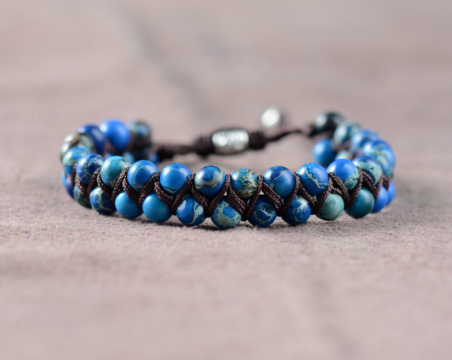 Men Bracelet Cool Natural Stone Beads Braided Cuff Handmade Friendship Bracelets Mens Charm Dropship