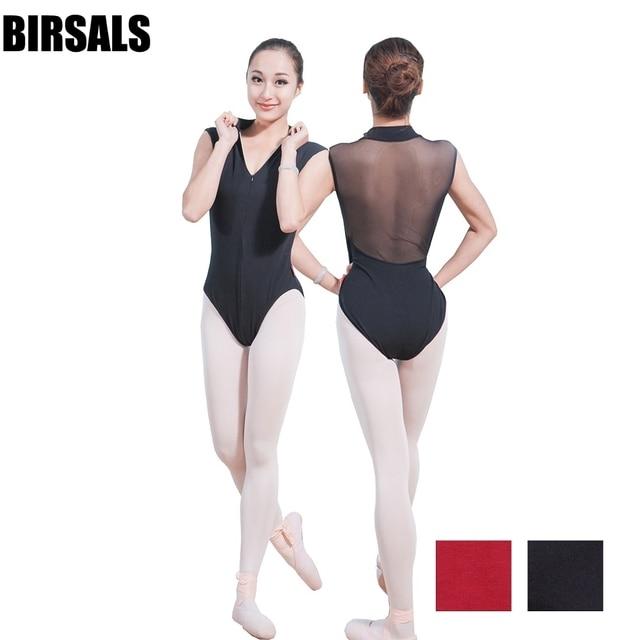 a235cb85b34d adult mock turtleneck zip front back powermesh training dance costume leotards  girls ballerina ballet leotards CS0160