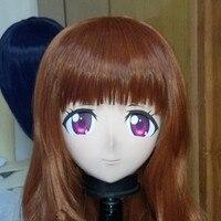 (C2 034)Top Quality Handmade Female Silicone Rubber Full Face Anime Kigurumi Mask Cosplay Kigurumi Masks Crossdresser Doll
