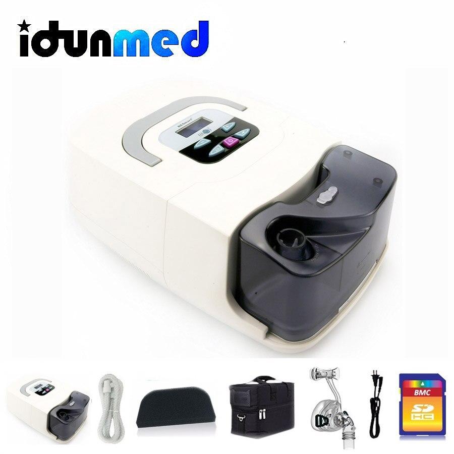 BMC GI maszyna cpap z maska nosowa filtr do nawilżacza wąż torba aparat oddechowy przenośny Respirator do bezdechu sennego chrapanie