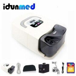 Bmc gi cpap máquina com máscara nasal umidificador filtro mangueira saco aparelho de respiração portátil respirador para sono apneia ronco