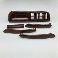 5 Pieces For VW Passat B5 Cherry Wood Door Handle Window Switch Bracket Control Panel Base