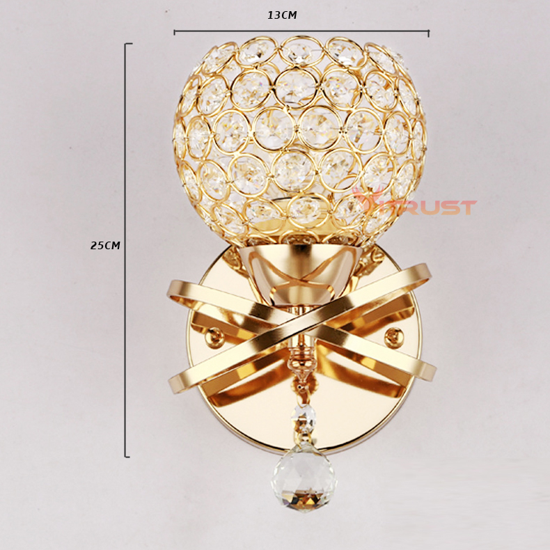 Lâmpadas de Parede de luxo cristal moderna lâmpada Área de Iluminação : Medidores 5-10square