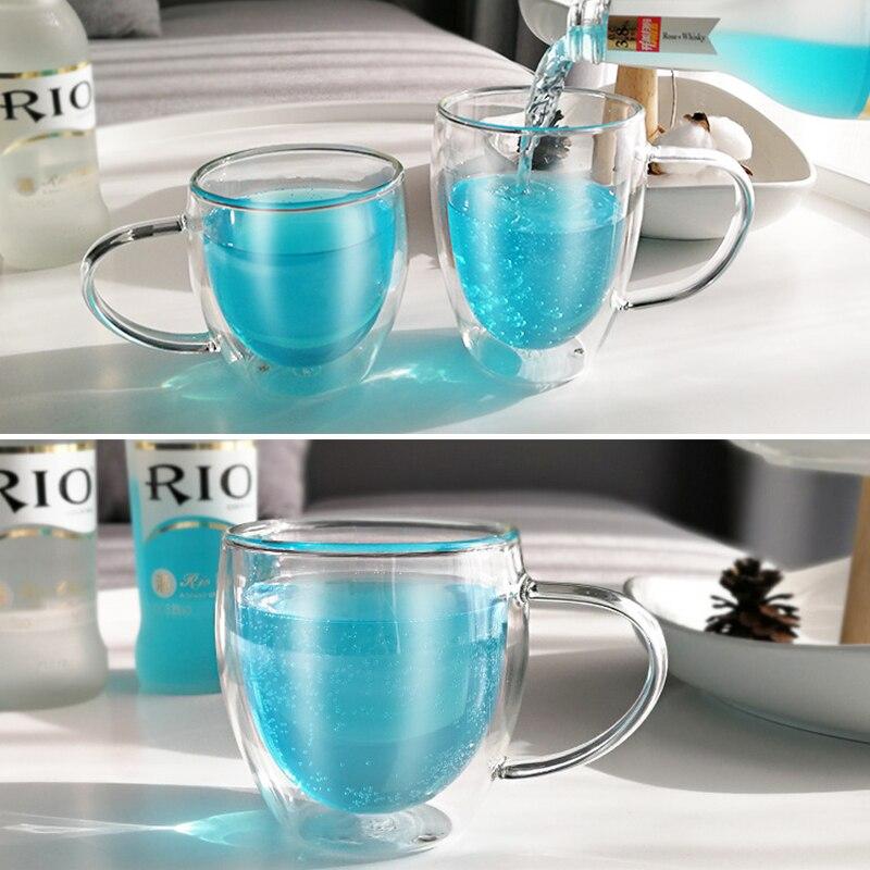 de vidro resistente ao calor para o escritório com copo do punho