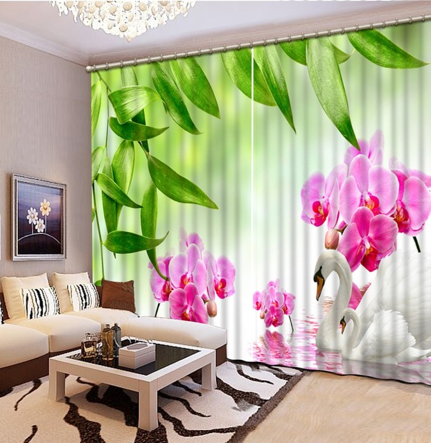 Blackout 3d Bedroom Curtains 3D Curtain For Living Room Bedroom Flower  Bamboo Curtain Home Decoration