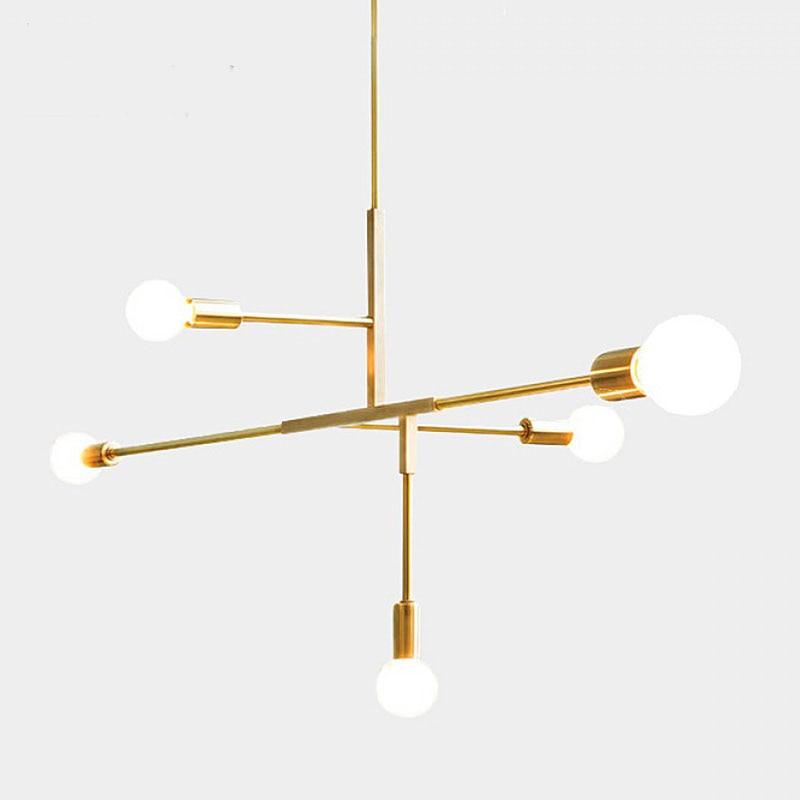 Nordic современный стиль стеклянный шар золото iron herringbone филиал подвесной светильник лампа гостиной, спальни ресторана висит освещения