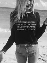 Sugarbaby New Arrival Save the Sharks Dance on the Beach Women's Fashion Sweatshirt moletom Tumblr Jumper 90s aesthetic Clothing