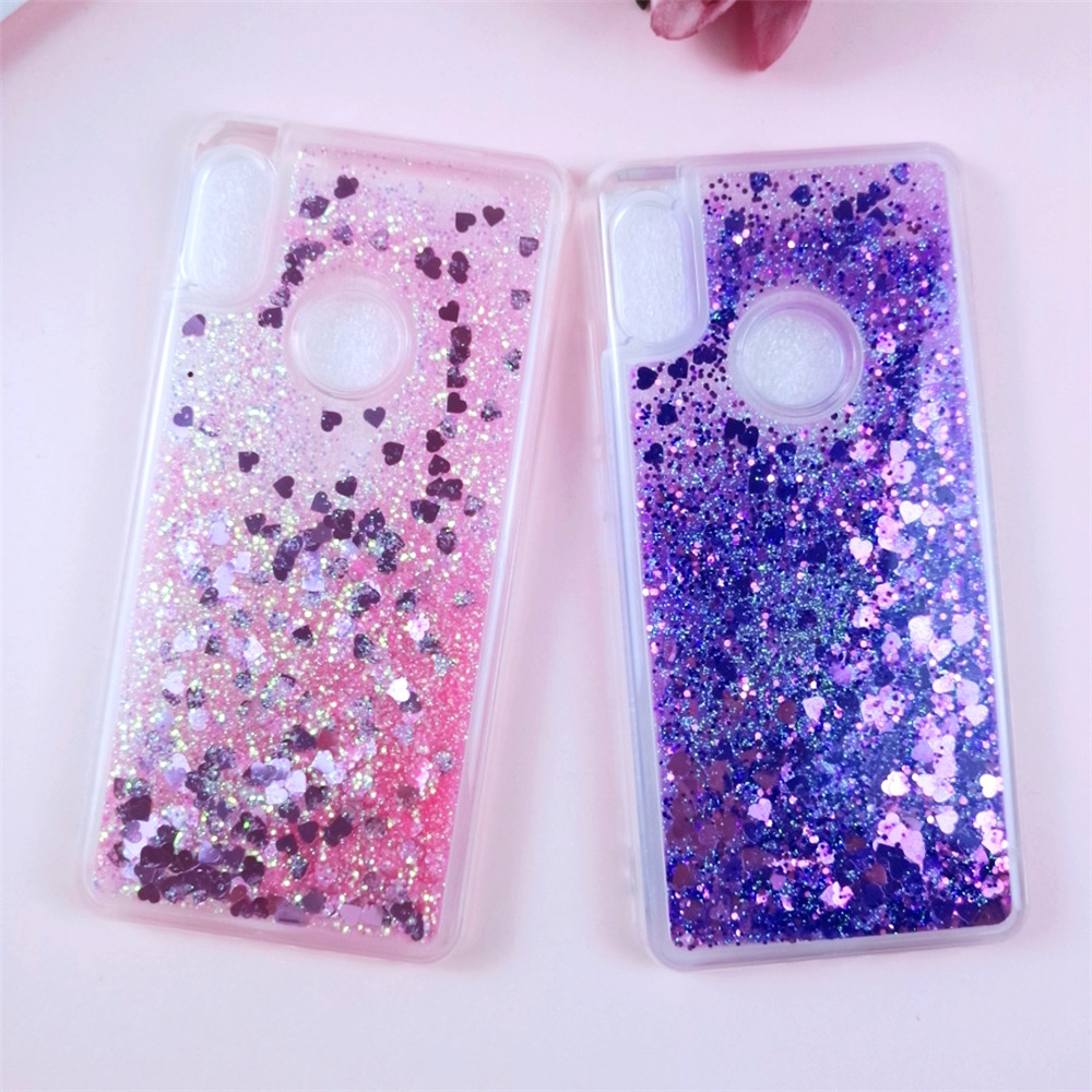 Note5 Pro Glitter Liquid Case on for Xiaomi Redmi Note 5 Pro Phone Case for Xiaomi Mi 6X  Back Cover Soft Silicone Dynamic Cases