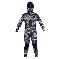 Layatone 9MM Neoprene Wetsuits Men Camouflage Spearfishing 2 Pieces Diving Suit Underwater Hunting Hooded Full Body Wet Suit