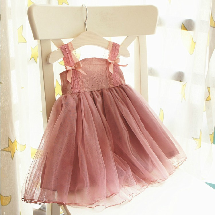 új Nagy méret Princess Lányok csipke ruha tüll-sifon Nyári lány Ruha félköpenyes gyerek ruházathoz
